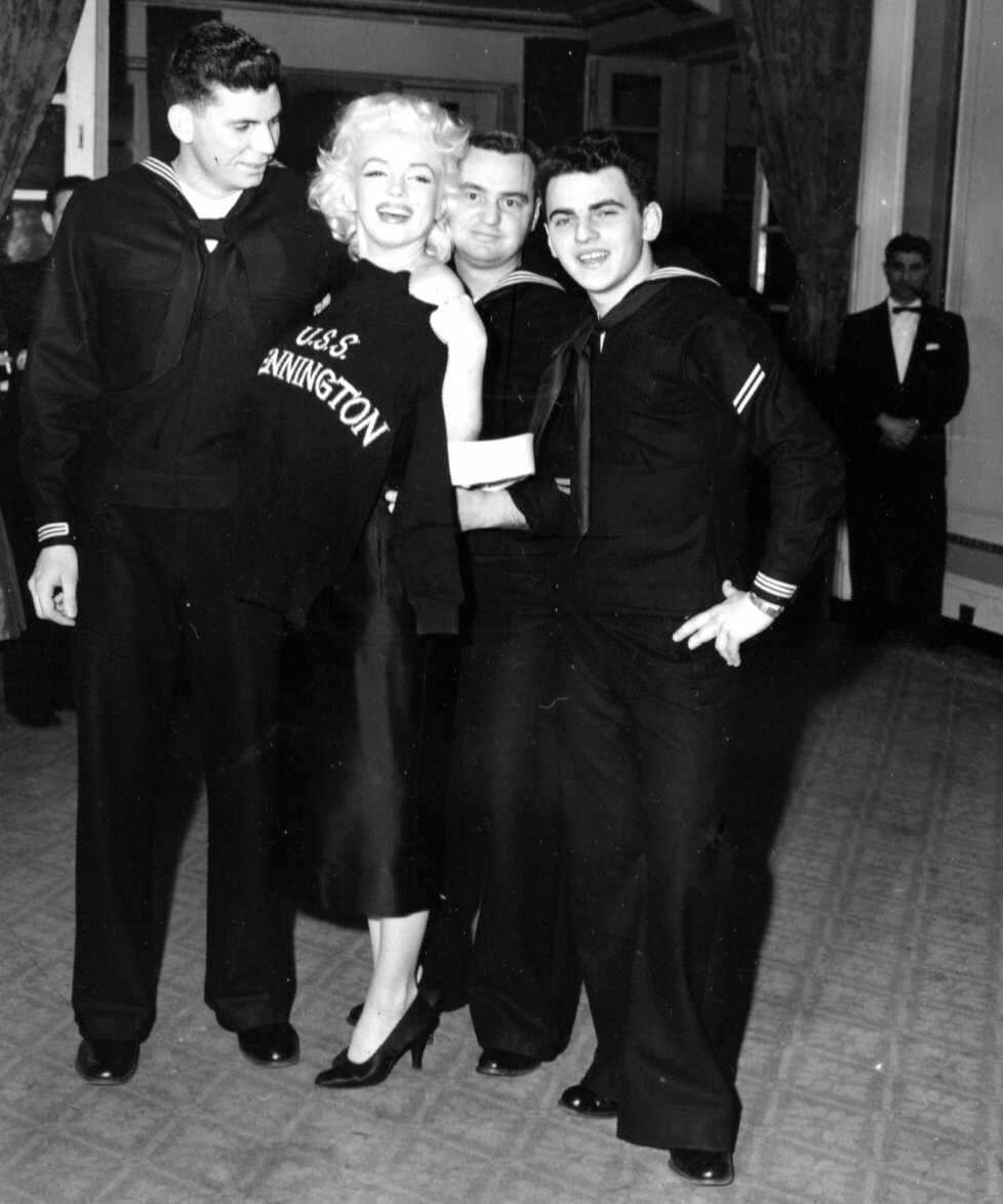 Marilyn Monroe Address Unique With Marilyn Monroe and the USS Bennington Crew Photo