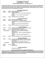PROGRAM OF EVENTS AND TOURS